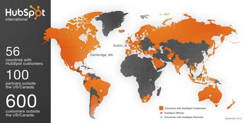 hubspot global map